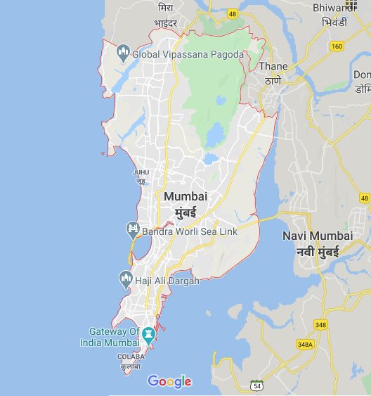 Google Maps - Screenshot of Mumbai
