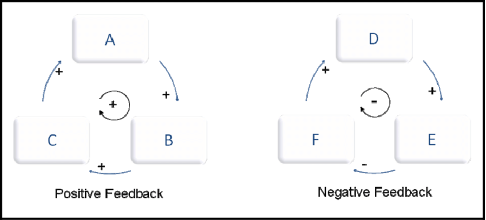 Source: Research Gate (n.d.) | Image: Positive & Negative Feedback Loop Diagram