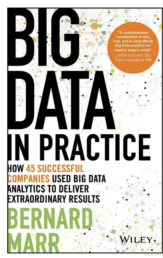 Source: Marr (2016) | Image: Book Cover - Big Data In Practice